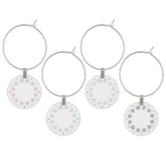Geometric pattern pattern 4 color sets wine charm