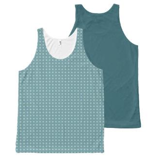 Geometric pattern pattern blue & green All-Over print singlet