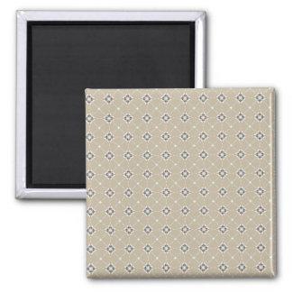 Geometric pattern pattern burugure × beige Magnet