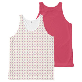 Geometric pattern pattern pink All-Over print singlet