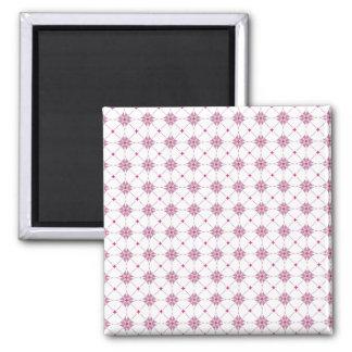 Geometric pattern pattern pink magnet