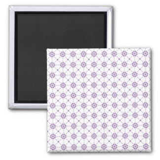 Geometric pattern pattern purple × white Magnet