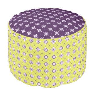 Geometric pattern pattern purple × yellow Pouf