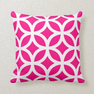 Geometric Pattern Pillow in Hot Pink