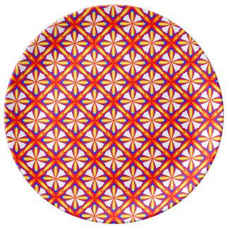 Geometric pattern Recoleta effect Plate