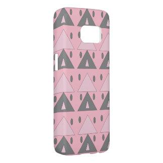 Geometric Pattern Soft Pink Gray Funny Elegant