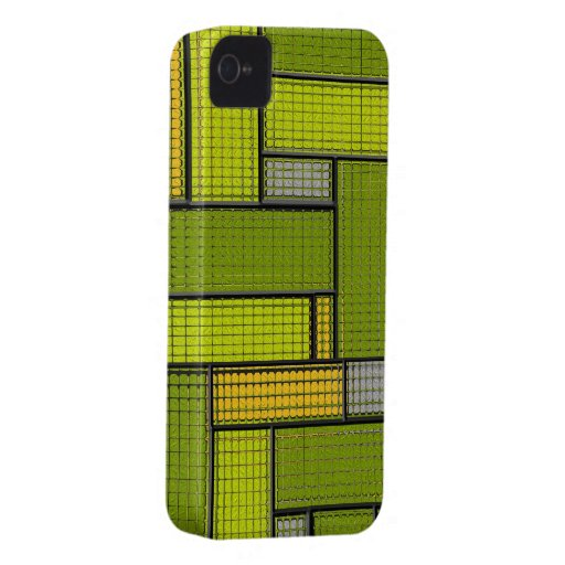 Geometric Pattern Stained Glass Blackberry Case
