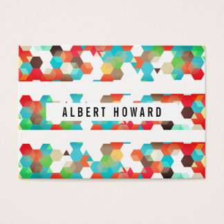 Geometric Pattern / Stripes Business Card