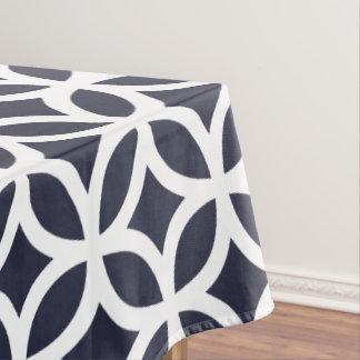 Geometric Pattern Tablecloth in Classic Blue
