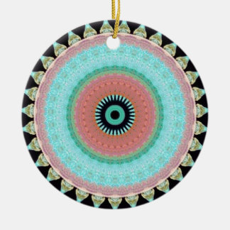 Geometric pattern Totem to inver itself Ceramic Ornament