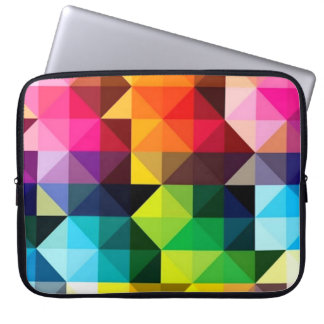 Geometric Pattern Vector Colorful Laptop Sleeve