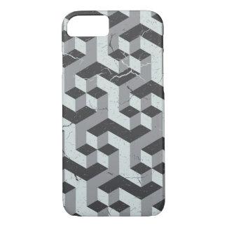 Geometric Pattern Vintage Style Grey iPhone 7 Case