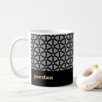 Geometric Pattern with Stars Coffee Mug