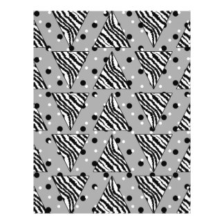 Geometric Pattern with Zebra Stripes and Dots. 21.5 Cm X 28 Cm Flyer