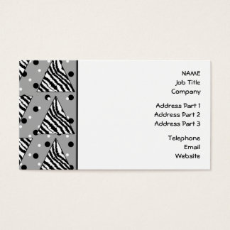 Geometric Pattern with Zebra Stripes and Dots. Business Card