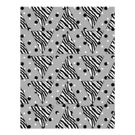 Geometric Pattern with Zebra Stripes and Dots. Full Color Flyer