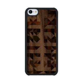 Geometric Pattern Wood phone case Walnut iPhone 5C Slim Case