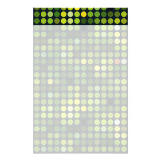 Geometric Patterns | Green circles Personalised Stationery