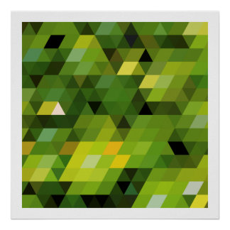 Geometric Patterns | Green triangles Poster