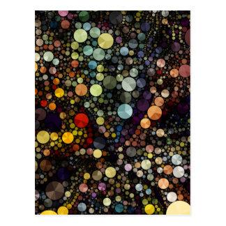 Geometric Patterns | Multicolor Circles Postcard