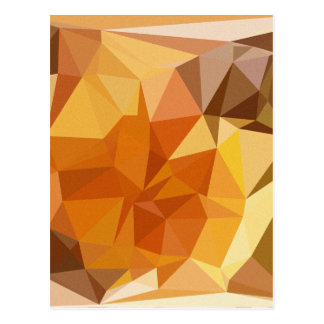 Geometric Patterns | Orange Yellow Triangles Postcard