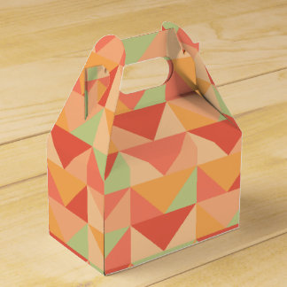 Geometric Peach Teal Modern Colorful Pattern Favour Box