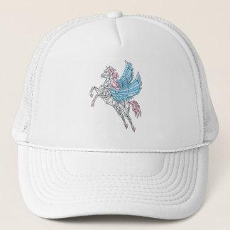 Geometric Pegasus Trucker Hat