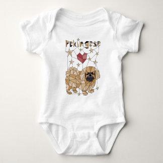 Geometric Pekingese Baby Bodysuit