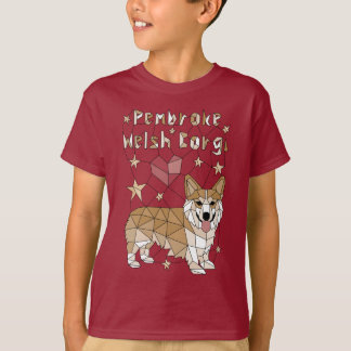 Geometric Pembroke Welsh Corgi T-Shirt