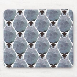 Geometric Penguin Huddle Print Mouse Pad
