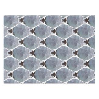Geometric Penguin Huddle Print Tablecloth