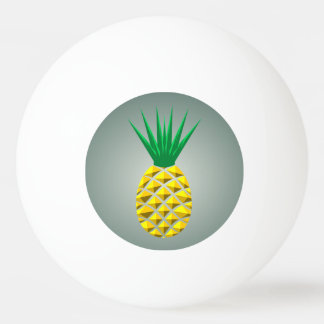 Geometric Pineapple Ping Pong Ball