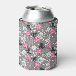 Geometric Pineapple Textured Pattern Can Cooler