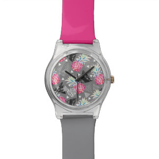 Geometric Pineapple Textured Pattern Watch
