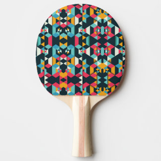 Geometric Ping Pong Paddle, Red Rubber Back