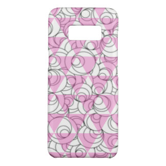 geometric pink and white bubbles Case-Mate samsung galaxy s8 case