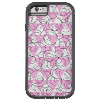 geometric pink and white bubbles tough xtreme iPhone 6 case