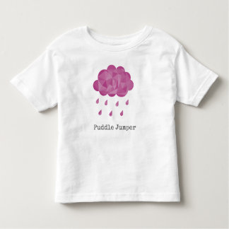 Geometric Pink Rain Cloud Puddle Jumper Toddler T-Shirt