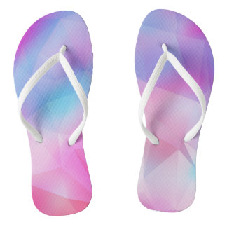 Geometric pink thongs