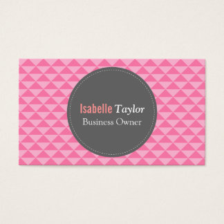 Geometric, Pink Triangles Pattern, Minimalist