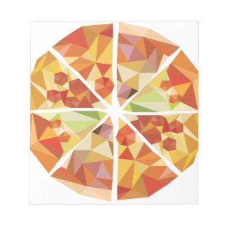 Geometric pizza notepad