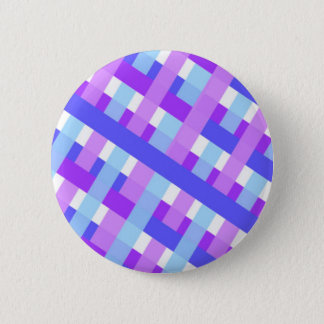 geometric plaid gingham diagonal 6 cm round badge