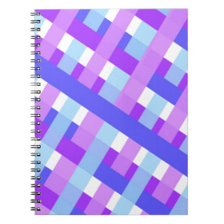 geometric plaid gingham diagonal notebook