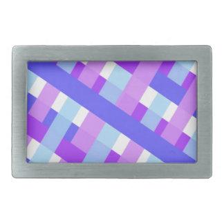 geometric plaid gingham diagonal rectangular belt buckles