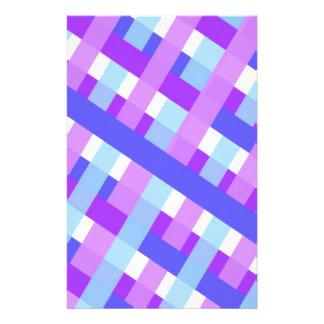 geometric plaid gingham diagonal stationery