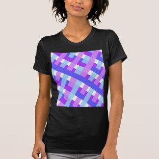 geometric plaid gingham diagonal T-Shirt
