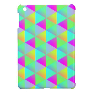 Geometric Popping Rainbow Block Cubes Patterned Cover For The iPad Mini