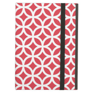 Geometric Poppy Red iPad Air Case