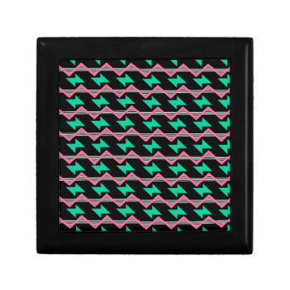 geometric print gift box