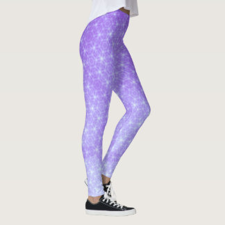 Geometric Purple and Lavender Ombre Leggings
